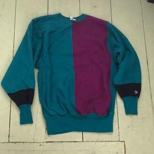 Vintage champion colorblock sweatshirt size xxl